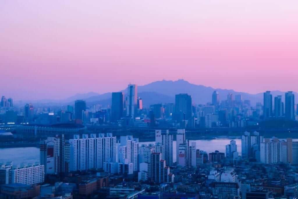 skyline seoul south korea