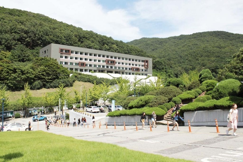 campus area at hankuk university in seoul