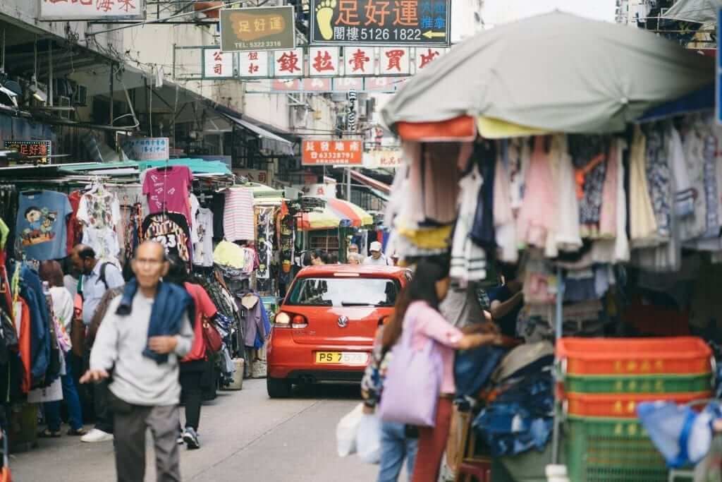 local market in Asia