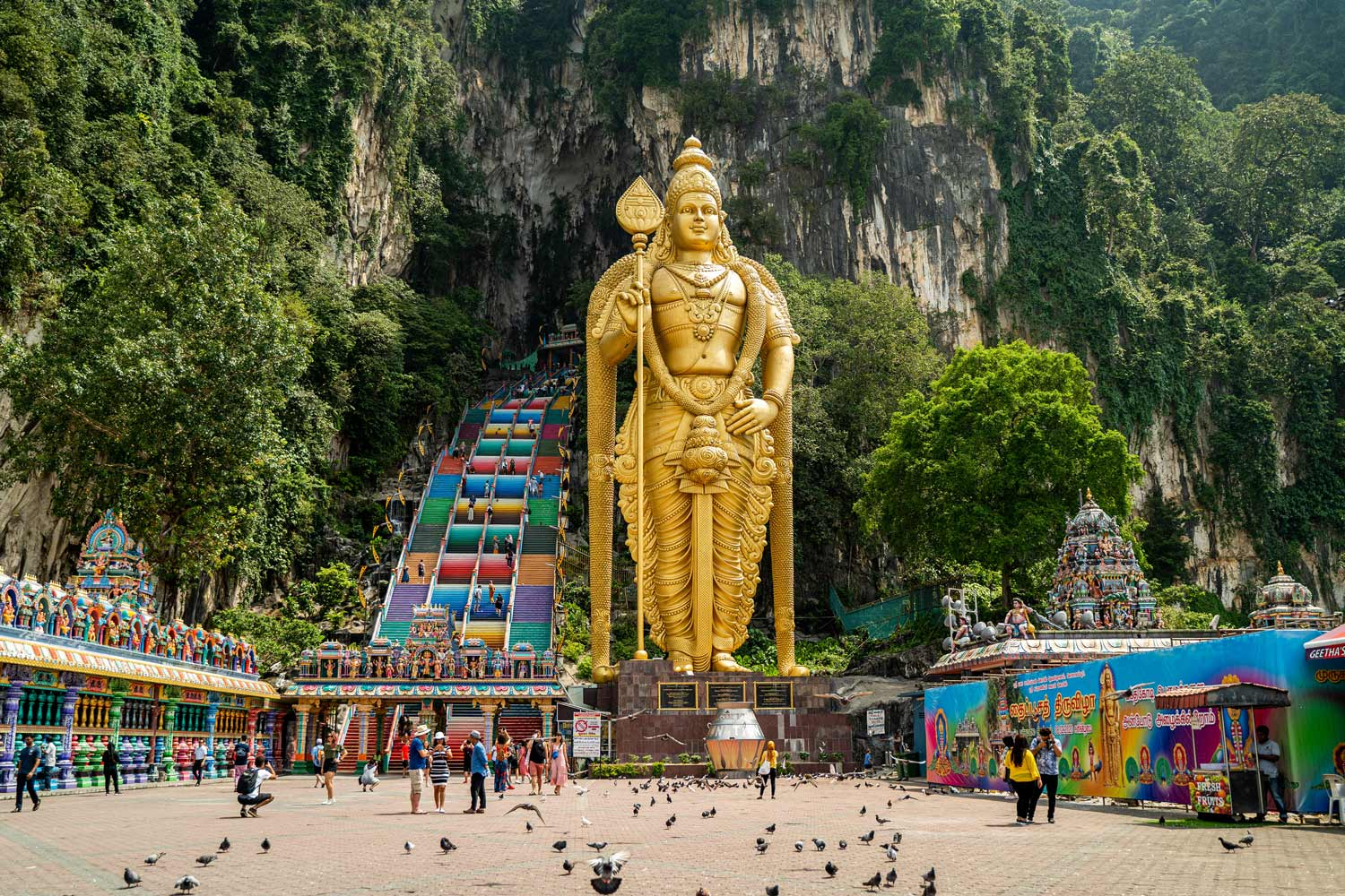 the entrance of the batu caves in kuala lumpur