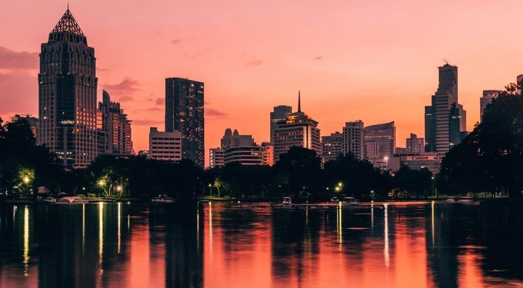 bangkok during sunset