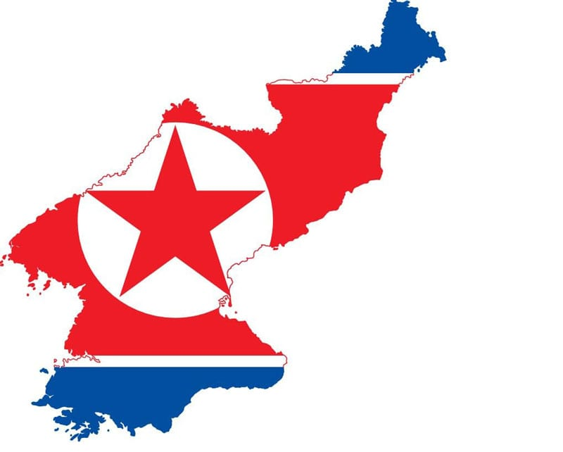 North Korean map flag