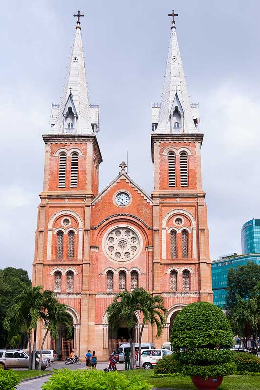 Saigon Notre-Dame Cathedral in downtown of Ho Chi Minh City