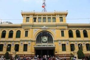 Saigon Central Post Office in Vietnam