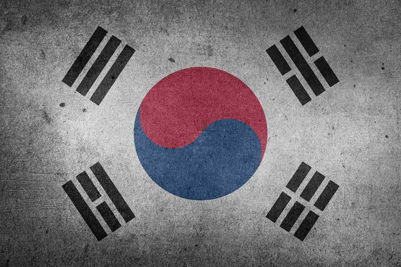 The flag of South Korea