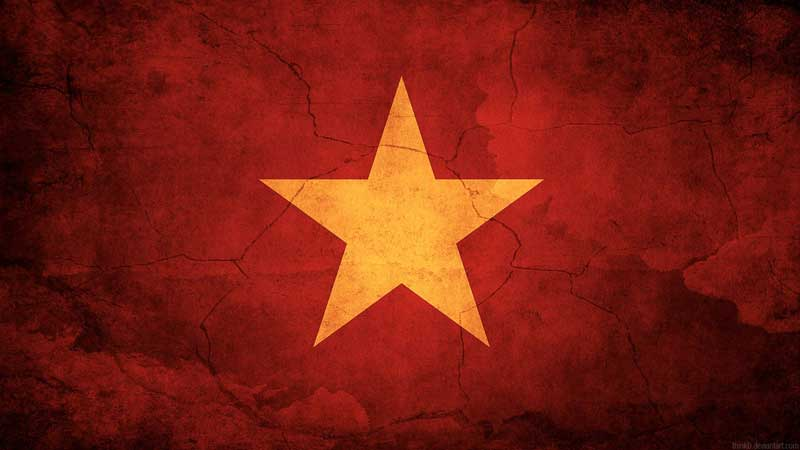 The flag of Vietnam