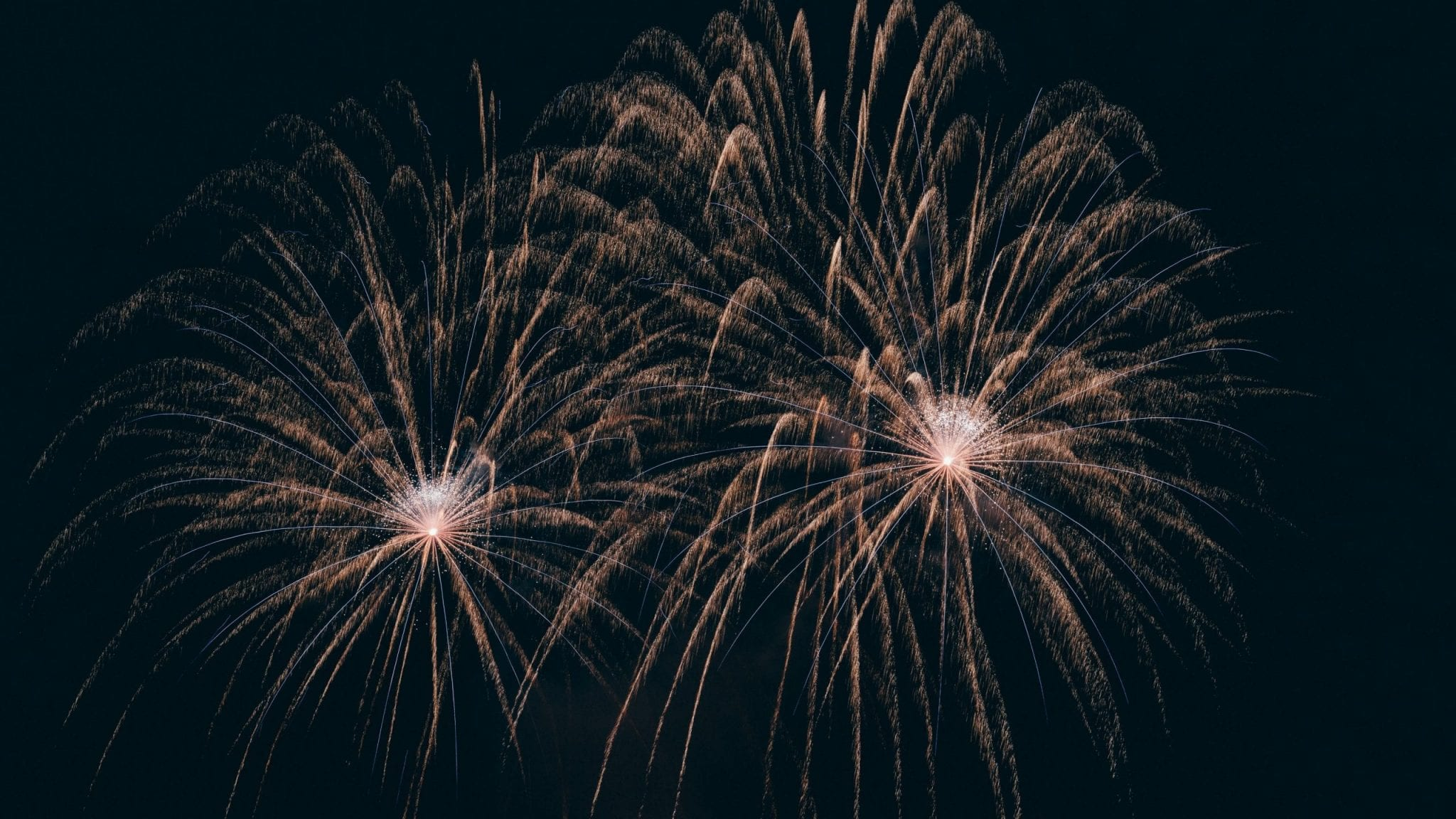 fireworks during night