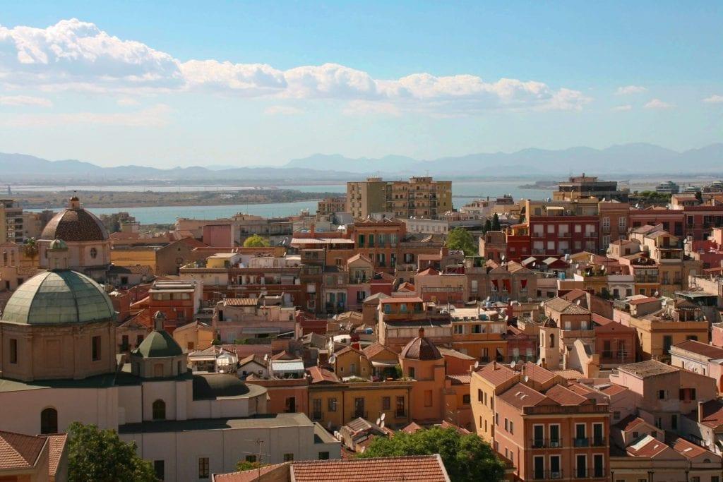 landscape view over Cagliari