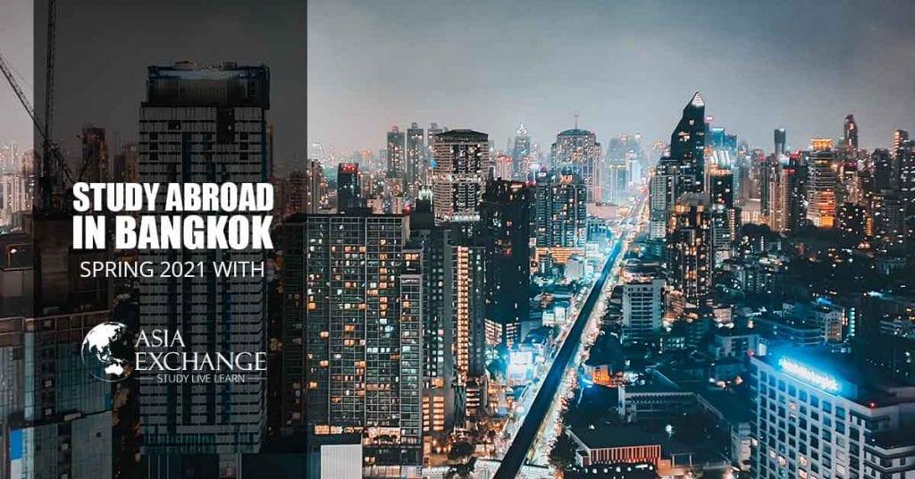 city view of Bangkok in Thailand pamflet