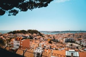 landscape view over lisbon
