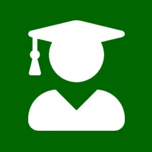 user graduate green icon