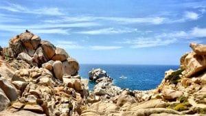 stones and ocean in sardinia