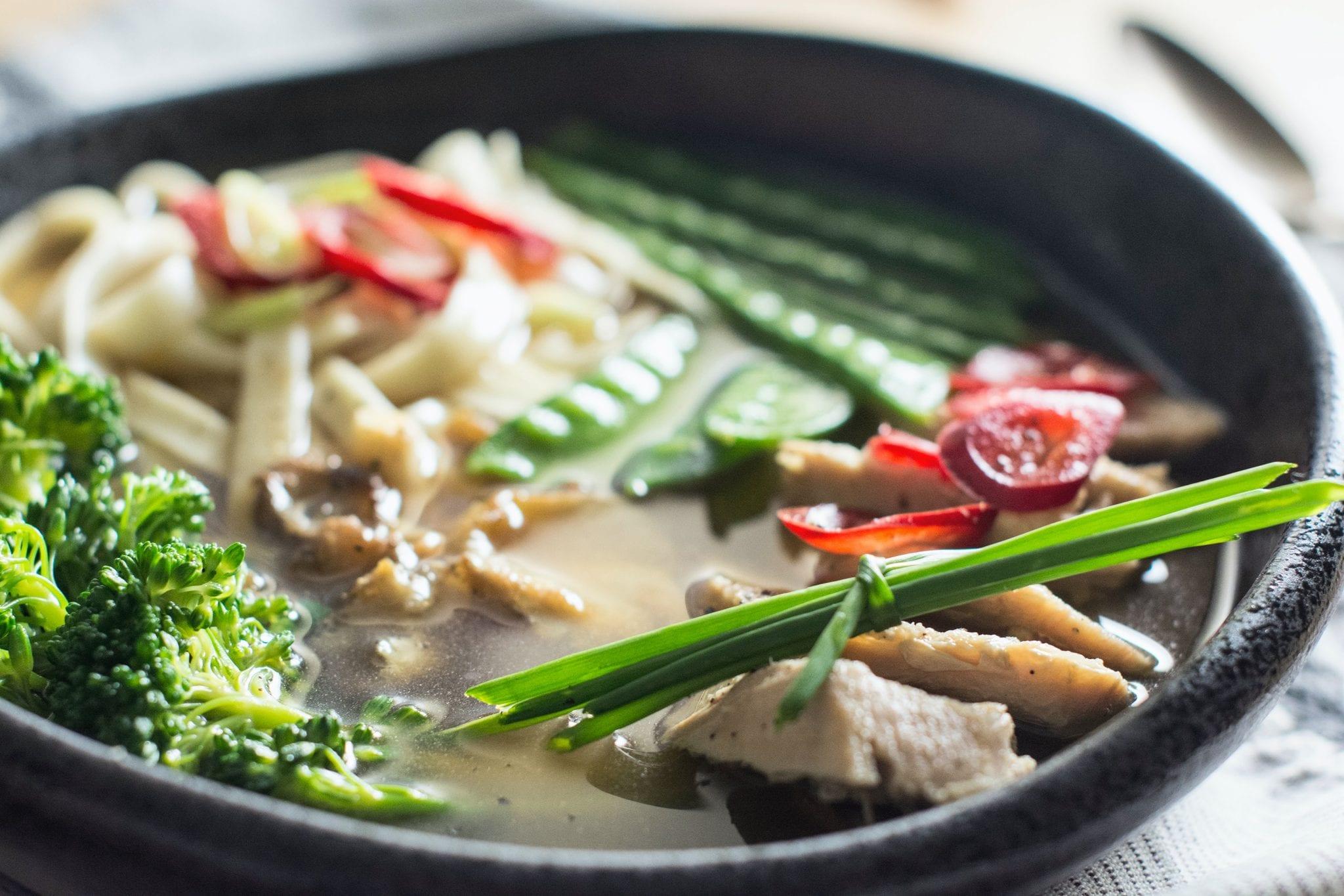 Korean food, a ramen, for takeaway during quarantine