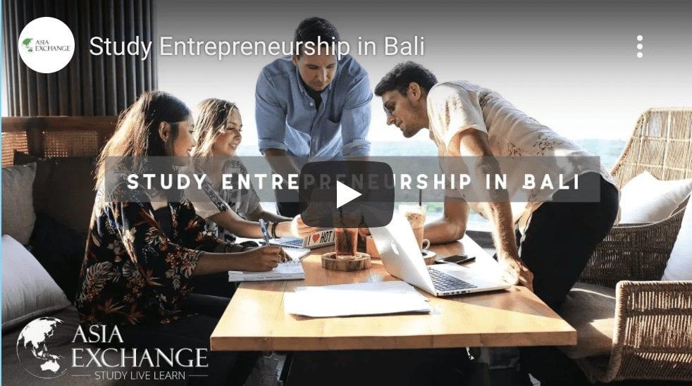 Study entrepreneurship in bali with asia exchange