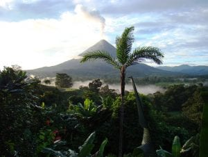 rainforest costa rica vulcano nature landscape view