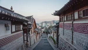 traditional street in South Korea