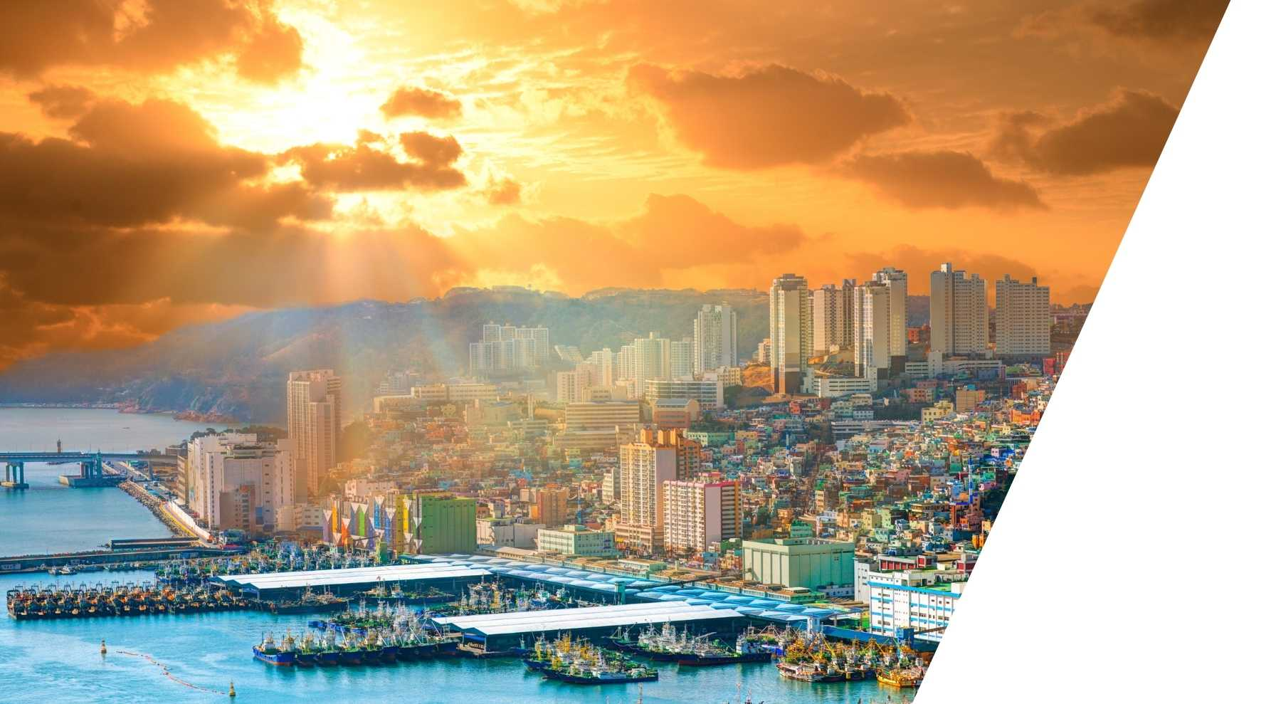 Sunset View over the City Busan
